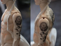 David Kuncci Commission ([Hisomu]) Tags: bjd abjd david kuncci dollshe fresh skin tattoo blushing commission art doll