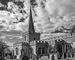 St Nicholas Church in Stevenage Hertfordshire)  (FujiFilm X70 Compact ) (markdbaynham) Tags: bw fuji fujiuk fujix transx x70 28mm f28 fujinon fixed prime church st nicholas stevenage herts hertfordshire