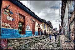 La Candelaria, Bogota (Guanabana3) Tags: 2010 bogota buildings city colombia cundinamarca graffiti hdr imagenomic lacandelaria nikcolorefex people photomatix processing street urban urbandecay