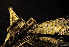 Luz Torre Eiffel ((C)JJMB) Tags: paris europa torre eiffel nocturna luz luces amarillo monumentos arquitectura viajes viajar mundo lugares francia pars