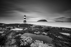 (Claire Hutton) Tags: penmon angelsey northwales uk lighthouse mono monochrome blackandwhite le longexposure smooth water sea island rockpools sonya6000 leefilters ndfilter