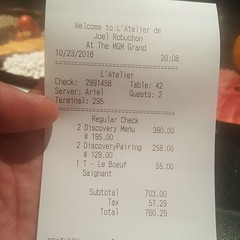 Now that's what I call a dinner bill!