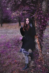 me (: (natty.bruce) Tags: girl modeling outdoor photography nature model gothic tree pink purple magical fantasy cool sony retouching
