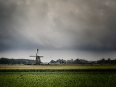 Autumn in Holland (Johan Moerbeek) Tags: windmolen windmill noordholland tzand herfst autumn rain clouds wolken