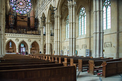 Arundel - Roman Catholic Cathedral Nave From South Aisle (Le Monde1) Tags: arundel howard dukeofnorfolk lemonde1 nikon d610 town castle cathedral romancatholic market westsussex england county uk southdowns riverarun frenchgothic architect josephaloysiushansom nave organ loft southaisle