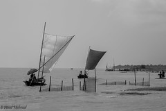 Long way (Himel Mahmud) Tags: boats fisherman blackandwhitephotography landscape nature bangladesh river riverside water sky people destination longway hardlife