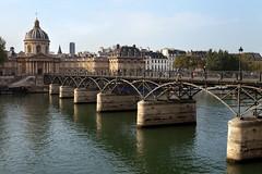 Pont des Arts (Mikey Down Under) Tags: river seine paris france pontdesarts iron arch institutdefrance