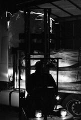 Praktica BC1 - Night Loading of the Truck (Kojotisko) Tags: prakticabc1electronic prakticabc1 prakticar118f50mm ilfordhp5plus rodinal bw film czechrepublic czechia brno creativecommons