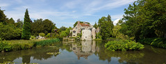 Scotney Castle, Kent (N.T.) (rayyaro) Tags: nationaltrust castles medievalcastles englishcastles scotneycastle walls water moat outdoor trees landscape peaceful calm rural medievalarchitecture reflections ferns
