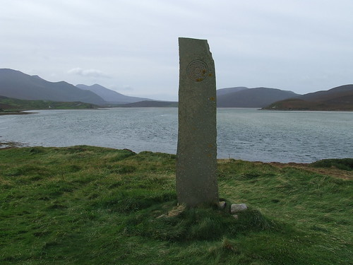 2016 # 65,Celtic Stone Overlooking the Kyle of Durness, Keodale, Highland 4.