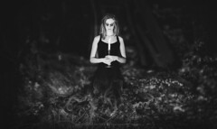 Witch (hispan.hun) Tags: witch halloween ghost portrait girl night forest scary blackandwhite bnw hispansphotoblog manualfocus vintage canonfd sonyphotography