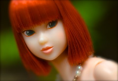 Queenie Close Up ( Lily Queens ) Tags: queenie red momoko kid blue strawberry sekiguchi doll