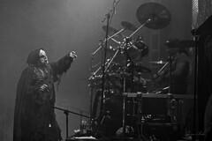Mayhem (gin.simmonns) Tags: mayhem blackmetal black metal metalhead metalheads norwey music musician extreme norwegian nordic true thetruemayhem mexico concert event show lights dark darkness instrument candless battery drummer singer corpsepaint monk satanic blackandwhite attila hellhammer