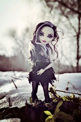 Until the End of Everything at All (EliMalone) Tags: duchess swan doll mattel everafterhigh royal outdoors outside walking walk winter jane boolittle gloom bloom basic ballerina ballet ballett toy scarah screams ilovefashion monsterhigh