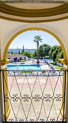 Window to summer (Dregster) Tags: window sobrsdealportel algarve pool blue piscina janela summer sun sunny palmeira arco arch azul arquitectura arquitecture