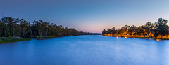 The Balonne River at St George - Queensland - Australia (andrew.walker28) Tags: river balonne st george queensland australia water sunrise long exposure landscape morning trees riverbank blue outback