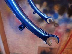Custom Fork Dropouts (Capricorn Bicycles) Tags: handmade custom steel bike bicycle frame lugged lugs house kolor paint retro paragon machine works road