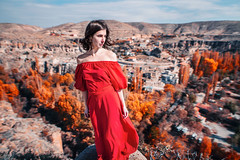 *** (shadobb) Tags: портрет portrait fashion travel turkey red bokeh dof sigma2014art sony a7r2 girl mountain colourful