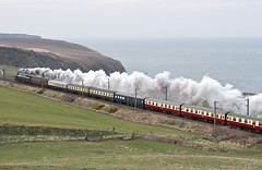 Burnmouth (goremirebob) Tags: railtour excursiontrain scotland railways trains ecml burnmouth steam steamexcursion dukeofgloucester 71000