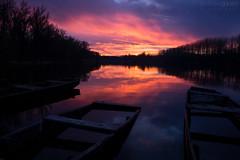 After Sunset (Zoltn Gyri) Tags: zoltangyori gyrizoltn mrtly float boat sinking sunset dusk