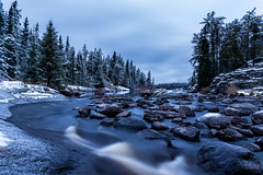 First Snow (.:: Nelepl ::.) Tags: snow winter manitoba canada outdoors camping hiking nopiming blacklake longexposure twilight dawn weather countryside