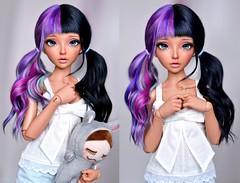 Melanie Martinez hairstyle (4arllin) Tags: ta bjd minifee mnf celine doll alpaca wig fairyland moe tan 4arllin