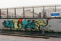 Retro (lepublicnme) Tags: 200 analog expired extra f80 film nikon france paris september 2016 graffiti streetart argentique retro