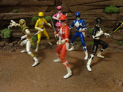 Mighty Morphin Power Rangers (Fatal-Vice) Tags: pink blue red white black yellow powerrangers mmpr