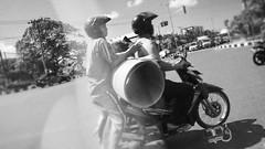 The Transporter (philliptrinh) Tags: street blackandwhite bw bali indonesia asia seasia southeastasia streetphotography scooter motorbike blacknwhite bnw traffice momochrome