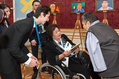 nuclear testing survivor Karipbek Kuyukov and Hiroshima survivor Setsuko Thurlow
