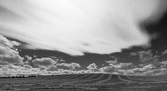 Clouds and fields (Richard & Sheila) Tags: monochrome clouds skyscape mono northumberland fauxinfrared