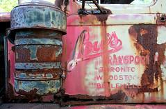 Lou's Transport (peterkelly) Tags: door ontario canada abandoned digital truck rust rusty rusted northamerica derelict wrecked rockwood wreckers wreckingyard mcleansautowrecking