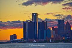 Detroit Skyline (Fitforeverphotographer) Tags: detroit belleisle renaissancecenter gmbuilding