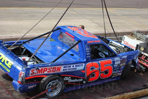 The Pick Up Truck of Mark Willis is recovered at Rockingham, Sept 2015