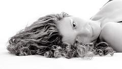 (#Weybridge Photographer) Tags: woman hot cute sexy slr girl beautiful lady canon pose hair studio eos model pretty posed down curly adobe dslr lying lightroom 40d