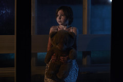 The Waiting is the Hardest Part II (Jeffrey Deal) Tags: bear family autumn portrait bus fall halloween scary blood october pretty teddy flash daughter stop extras killer bonus cinematic strobe