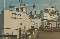 """SHIP 1940s The Arnold Line Mackinaw Island Ferrys The OTTAWA The CHIPPEWA & The IROQUOIS of The  Island Transportation Company part owned by George Arnold merged with the Arnold Line 19462 (UpNorth Memories - Donald (Don) Harrison) Tags: travel usa heritage history tourism st vintage antique michigan postcard memories restaurants hotels trailer roadside upnorth steamship cafes excursion attractions motels mackinac cottages cabins campgrounds city"""" bridge"""" island"""" """"car upnorthmemories rppc wonders"""" """"big """"railroad """"michigan memories"""" mac"""" """"state parks"""" entertainment"""" """"natural harrison"""" """"roadside ferry"""" """"travel """"don """"tourist """"mackinaw puremichigan stops"""" """"upnorth straits"""" ignace"""""""