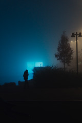 OUT IN THE BLUE-4.jpg (Adamo M. Moses) Tags: milan fog night dark lowlight moody sony concept lowkey myst diffusedlight personalproject a6000