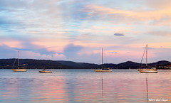 0S1A1365_6_7 (Steve Daggar) Tags: sunset seascape reflection marina landscape ray yacht centralcoast waterscape gosford woywoy koolewong