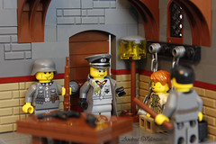 Intterogation (kr1minal) Tags: usa army us lego nazi wwii scene german vignette panzer moc brickmania