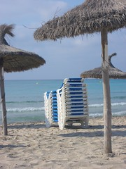 To The Beach (DiddyCoull-2015) Tags: sea tree beach water umbrella sand mallorca sunbeds