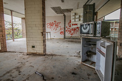 Happy Micro! (Voodoooz) Tags: camera old city trip travel urban baby sun hot color building sexy abandoned love water architecture hospital photography photo nice outdoor decay urbandecay tripod extreme australian surreal australia indoor eerie babe brisbane tourist adventure flashback explore infiltration qld queensland aussie urbex tourer urbanlight ubrex