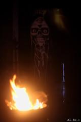 Behind the fire.. (Al. Bo.) Tags: light streetart castle canon fire 50mm lights flames zak castello luce fuoco buio tenia fiamme 50mmf18ii 60d 50f18ii zakula eos60d ziozak castellodizak zakulascastle