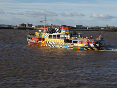 62. Camouflaged (Jackie & Dennis) Tags: ferry dazzle mersey snowdrop dazzleship 115picturesin2015 115in2015 62camouflaged