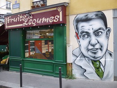 Zabou ...  Montmartre (2015) (Archi & Philou) Tags: streetart montmartre paintedwall murpeint amliepoulain zabou