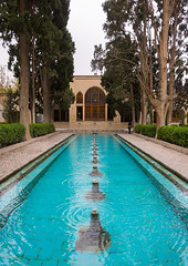 shotor galou-e-shah abbasi in fin garden, Isfahan Province, Kashan, Iran (Eric Lafforgue) Tags: travel building tree tourism water fountain pool vertical architecture garden outdoors persian pond iran turquoise middleeast nobody nopeople landmark courtyard artificial basin unescoworldheritagesite pavilion iranian geography kashan geographic islamicarchitecture persiangulfstates fingarden watercanal cedartrees   16731 colourimage  iro isfahanprovince  baghefin westernasia  solomonspring bagdefin historicwalledgarden shotorgaloueshahabbasi thehsoleymaniehspring