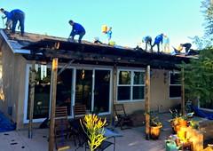 Flurry of Activity (tmvissers) Tags: roof sandiego shingles debris tearoff roofing