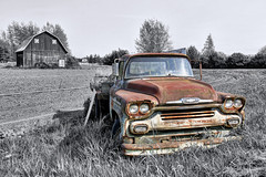 The Limits of Existence (Fairlane221) Tags: chevrolet abandoned rural truck washington rust fifties decay farm rusty chevy forgotten 1958 wa derelict flatbed clallamcounty farmtruck rurex abandonedpnw abandonedwa