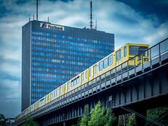 Postbank Berlin (olipennell) Tags: city building berlin architecture train germany de deutschland postbank tram zug stadt architektur bahn gebude