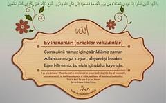 Fridays (Oku Rabbinin Adiyla) Tags: god islam religion east bible friday allah verse cuma kuran ayet